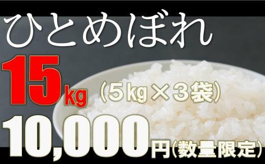 【チャレンジ応援品】大槌産米ひとめぼれ15kg(5kg×3袋)