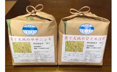 ササニシキ2kg・ひとめぼれ2kg・宮城県認証農薬不使用米