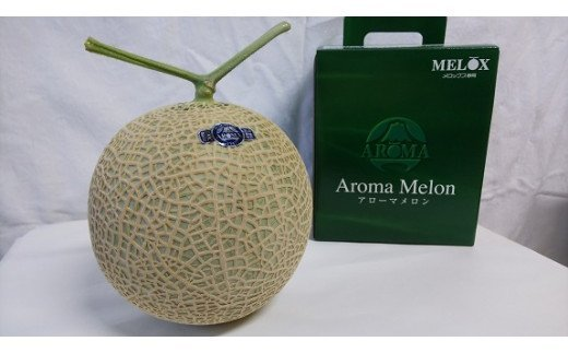 (チャレンジ応援品)013-17 高級温室静岡県産アローマメロン1玉 化粧箱入り