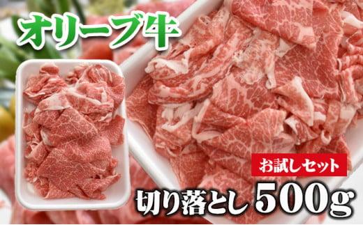 [№4631-2202]「お試し」香川県産 黒毛和牛 オリーブ牛 切落し 500g