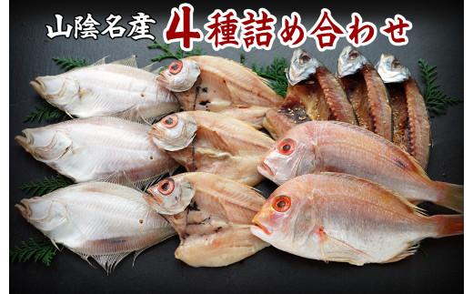 【21-020-017】山陰の干物 4種詰合-竹
