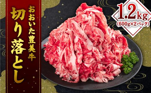 【チャレンジ応援品】おおいた豊美牛 切り落とし 600g×2パック 計1.2kg 豊美牛