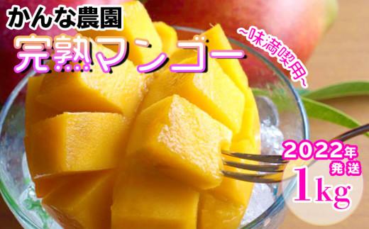 【2022年発送】<味満喫用>かんな農園の糸満産完熟マンゴー約1kg