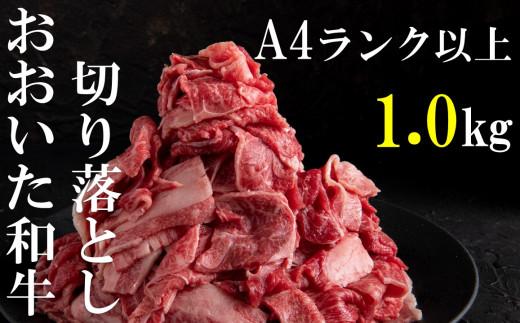 【おいしく食べて生産者を応援‼】おおいた和牛切り落とし1.0kg(500g×2パック)10月末まで 【チャレンジ応援品】