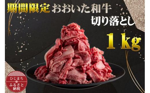 【期間限定】おおいた和牛切り落とし1kg【チャレンジ応援品】