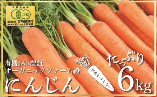 83-01_【有機JAS】 たっぷりにんじん6kg! (訳ありふぞろい規格)