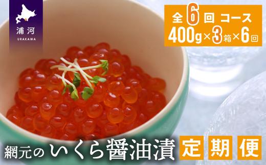 網元のいくら醤油漬(400gx3箱)【全6回定期便】[01-968]