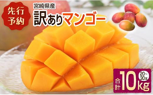<先行予約>宮崎県産 訳ありマンゴー《家庭用》合計10kg【E76】