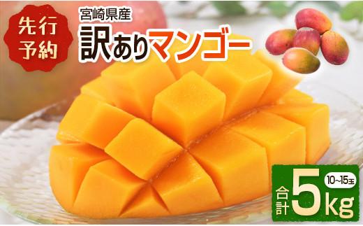 <先行予約>宮崎県産 訳ありマンゴー《家庭用》合計5kg【E129】
