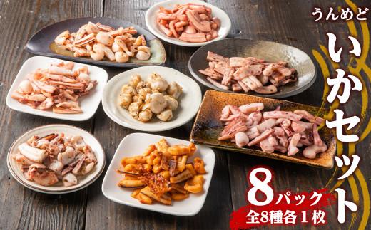 KU180 干物以外にもいろいろな料理に使える!うんめどいかセット8パック(8種×各1パック) 【内野水産】