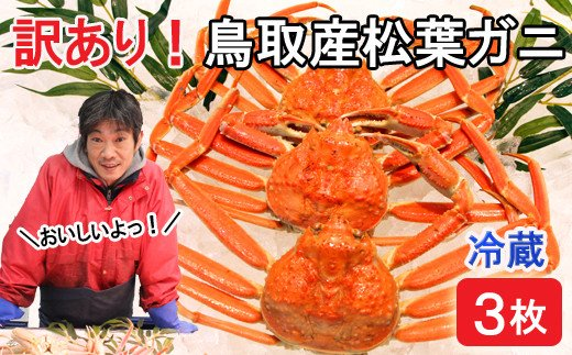 KI93:鳥取産訳あり松葉ガニ(3枚)冷蔵