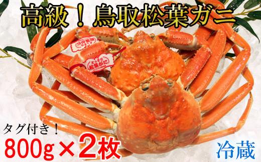 KI92:鳥取産タグ付き松葉ガニ(2枚)冷蔵