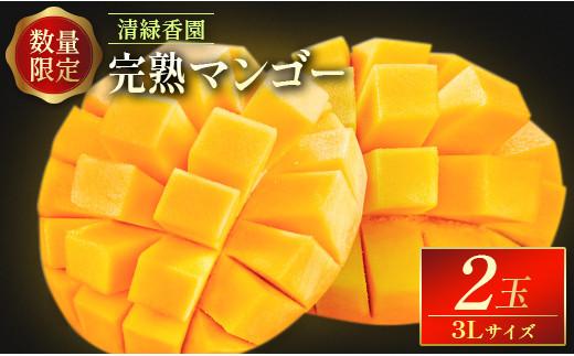 [数量限定]清緑香園 完熟マンゴー 3L×2玉【C233】