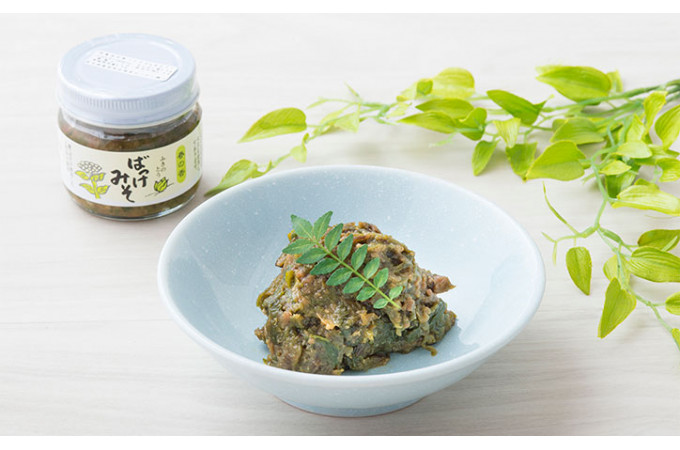 今回ご紹介する「ばっけ味噌」は柔らかな葉っぱだけを使ってお味噌とあわせた自家製のおつまみ味噌。