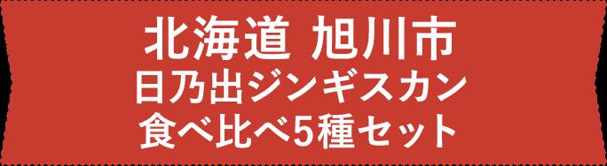 北海道 旭川市 日乃出ジンギスカン食べ比べ5種セット