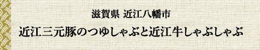 滋賀県 近江八幡市 近江三元豚のつゆしゃぶと近江牛のしゃぶしゃぶ