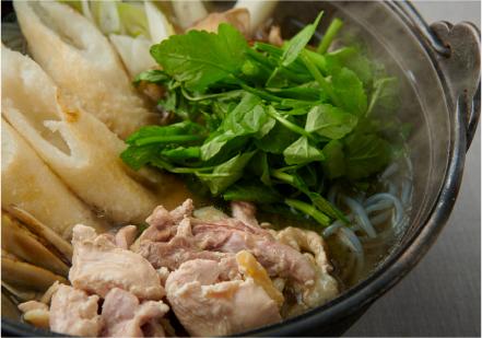 秋田県大館市  比内地鶏ときりたんぽの鍋