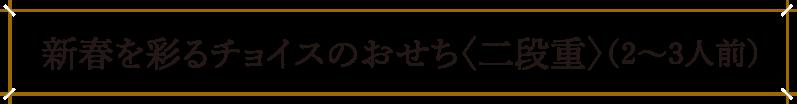 新春を彩るチョイスのおせち〈二段重〉(2~3人前)