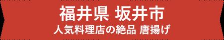 福井県 坂井市 人気料理店の絶品 唐揚げ