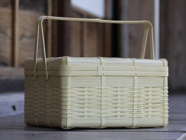 竹虎「白竹のピクニックバスケット(大)」