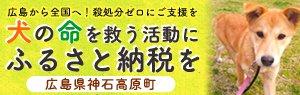 広島から全国へ!殺処分0にご支援を