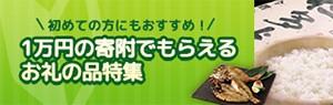 初めての方にもおすすめ!1万円の寄附でもらえるお礼の品特集