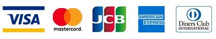 VISA MasterCsrd JCB amex DinersClub