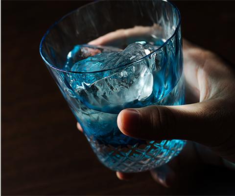 藤巻百貨店】クリスタルグラス「GOKAN」Fujimaki Blue ROCK WAVE