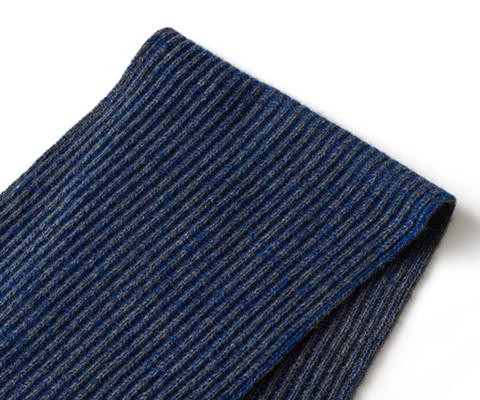 【UTO】×藤巻百貨店特注カラー世界最高峰カシミヤ両あぜ編みマフラー