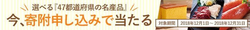 47都道府県の名産品が寄附申し込みで当たる