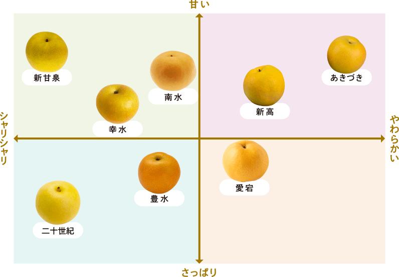 品種別の梨マップ