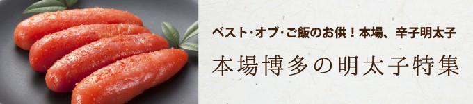 ふるさと納税ー本場博多の明太子特集