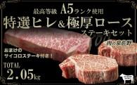 E063 最高等級A5使用 特選ステーキセット2.05㎏