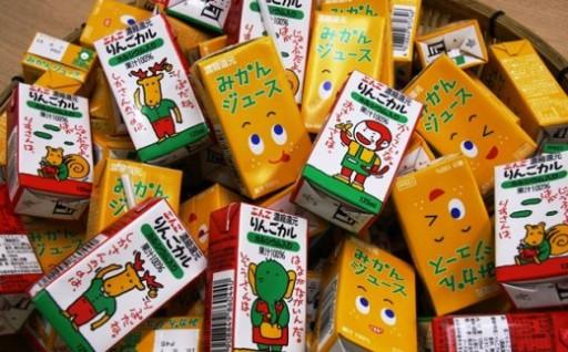 受付再開!空前絶後の64本〃果汁100%みかん&林檎ジュース