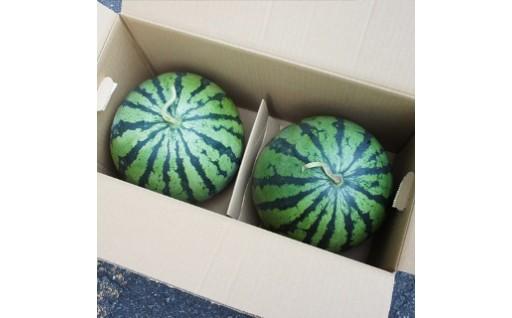 生産量日本一!スイカ王国熊本から届く大玉すいか2玉セット