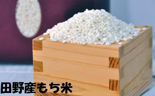 【四国一小さな町のもち米】田野産のもち米 12kg