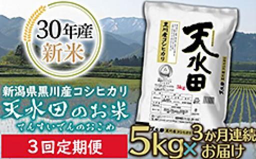新潟県黒川産コシヒカリ【天水田】の定期便が登場!