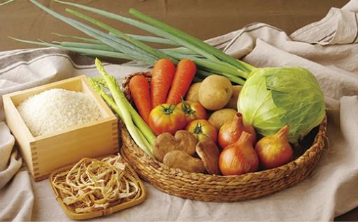 お米と季節野菜のおまかせセット