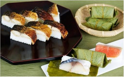 ★柿の葉ずし(鯖・鮭)と柚庵焼鯖ずしの詰合せ★