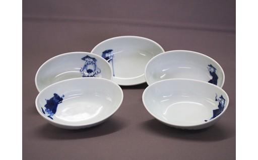 青花の新商品✨楕円小鉢セット(5枚セット)