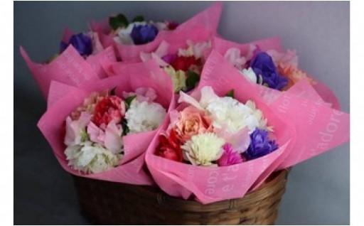 【お花の定期便】八女のお花を使ったブーケを年4回お届け♪