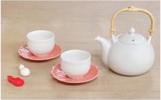 おめでたい!ひょうたん茶器セット!縁起の良い紅白箸置き付