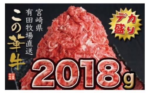 《大人気》有田牧畜産業 牧場直送 この華牛デカ盛り2018g