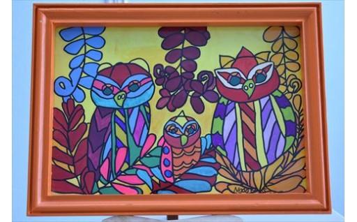 【絵画】ジャングルのフウロウ