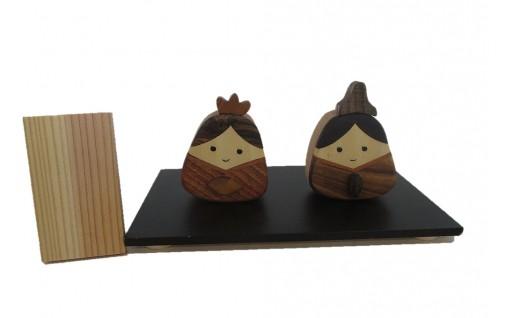 とんぼ工房手作り「木のお雛様」