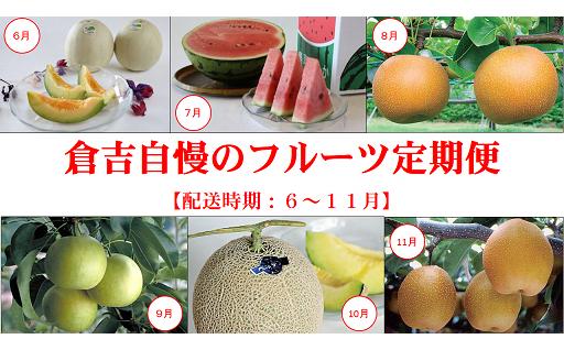 倉吉市の6ヶ月「フルーツ定期便」【残り60セット限定!】
