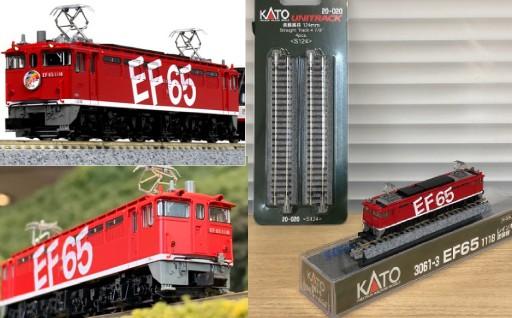 赤色が鮮やかな特別塗装のEF65形電気機関車をご用意しました