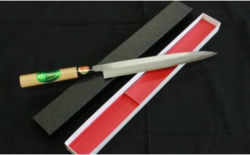 伝統の技法が冴える土佐打ち刃物「正夫(刺身)包丁片刃白鋼」