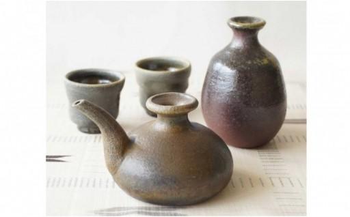 【ようざん窯】泡盛酒器(カラカラ、とっくり、おちょこ)セット