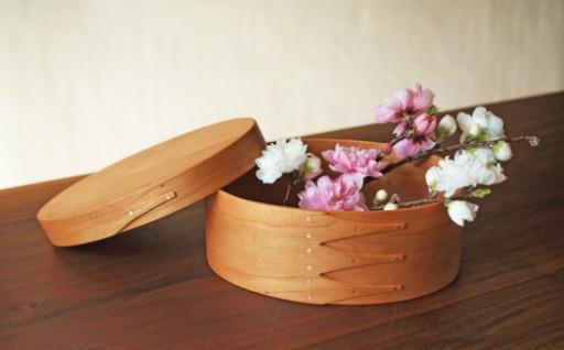 【月5台限定】家具職人の無垢材使用の手づくりオーバルボックス